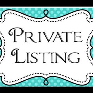 PRIVATE LISTING FOR CHRISTIANA B🤩
